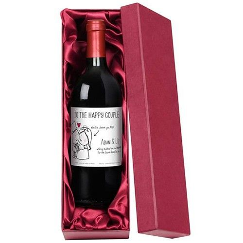 7982b3900d Personalised Red Wine - Gold Label    Luxury Personalised Red Wine with  premium gold label. Personalised with any name