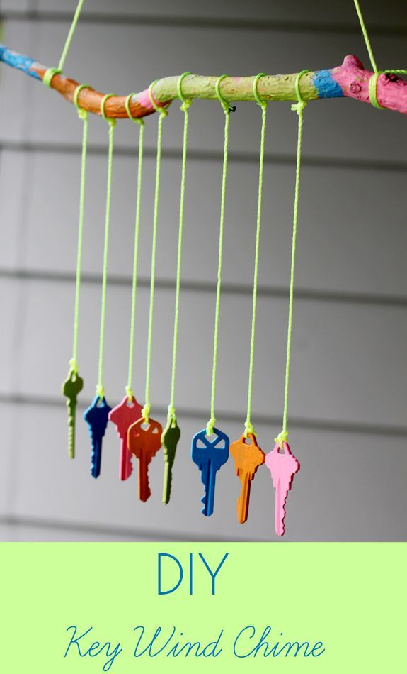 Recycled Craft Ideas For Kids Part - 22: Recycled Crafts For Kids: DIY Key Wind Chime