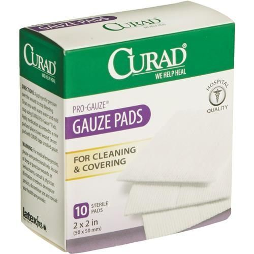 Curad ProGauze Pad Bandages Pad, 10 things, Waterproof tape
