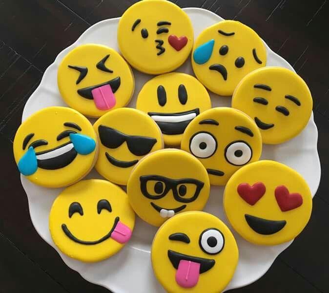 Cindi Bartlett Dickins Emoji Cookies Decorated Cookies