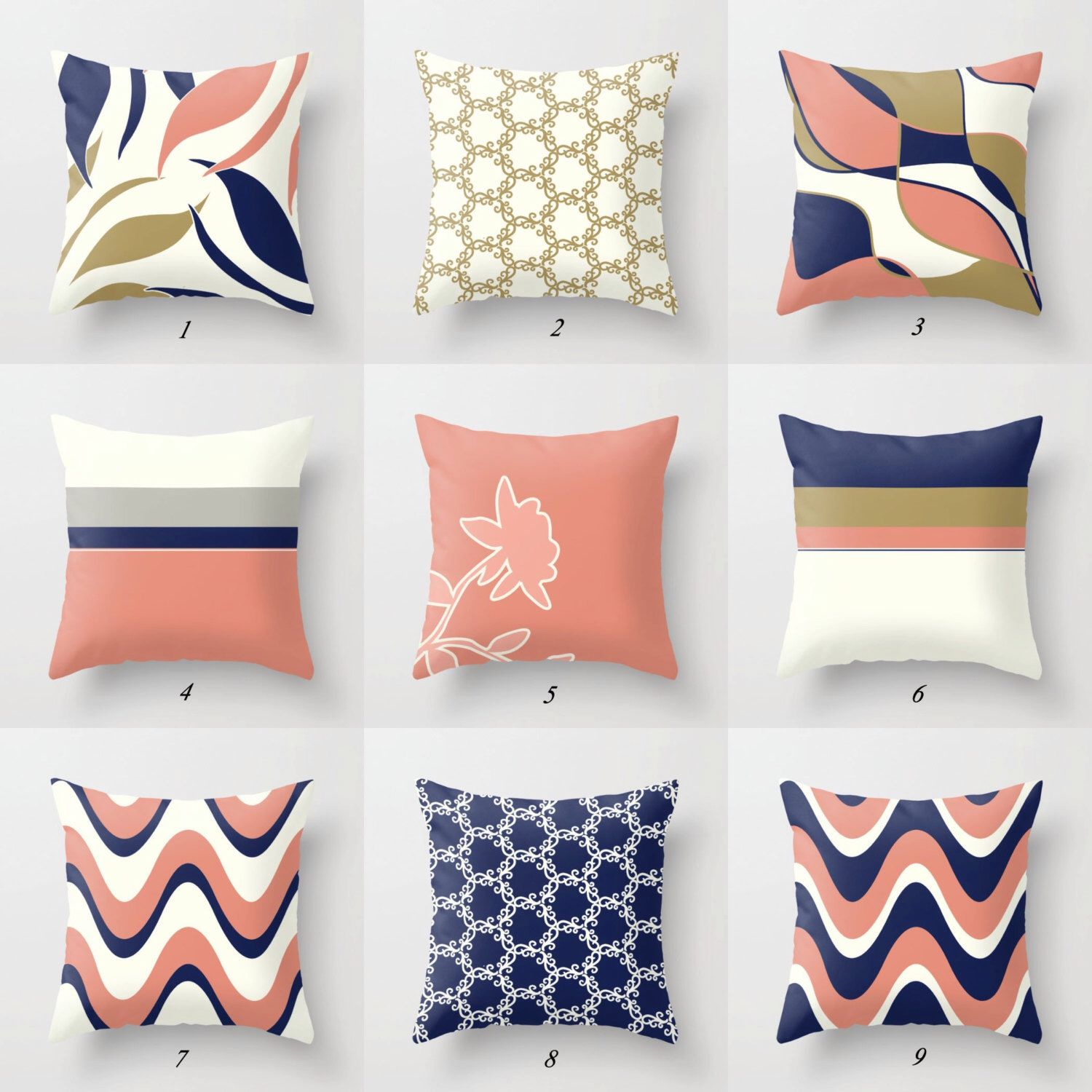 Navy Blue Pillow Pink And Blue Pillow Covers Pink And Navy Coral Pillow Pink And Gold Pillow White Blue Pillows Blue Throw Pillows White And Gold Pillows