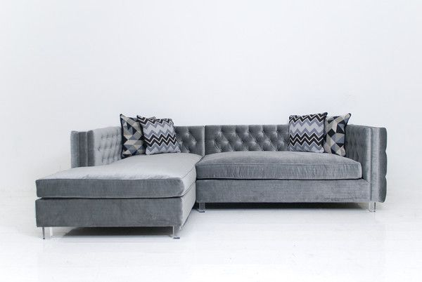 New Deep Inside Out Sectional In Elephant Grey Velvet Cushions On Sofa Diy Living Room Furniture Living Room Update