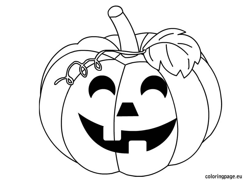 Halloween Pumpkin Black And White Halloween Coloring Pages Diy