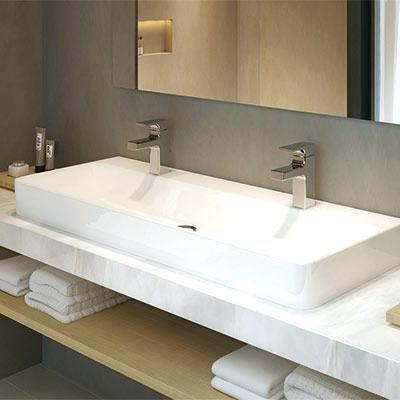 Evier salle de bain double vasque en 2019 salle de bain - Double evier salle de bain ...