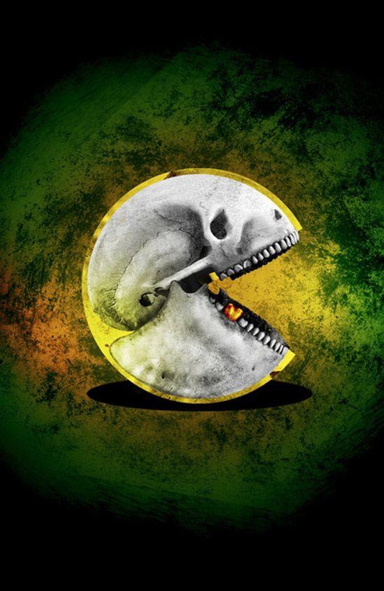 El cráneo de Pac-Man.