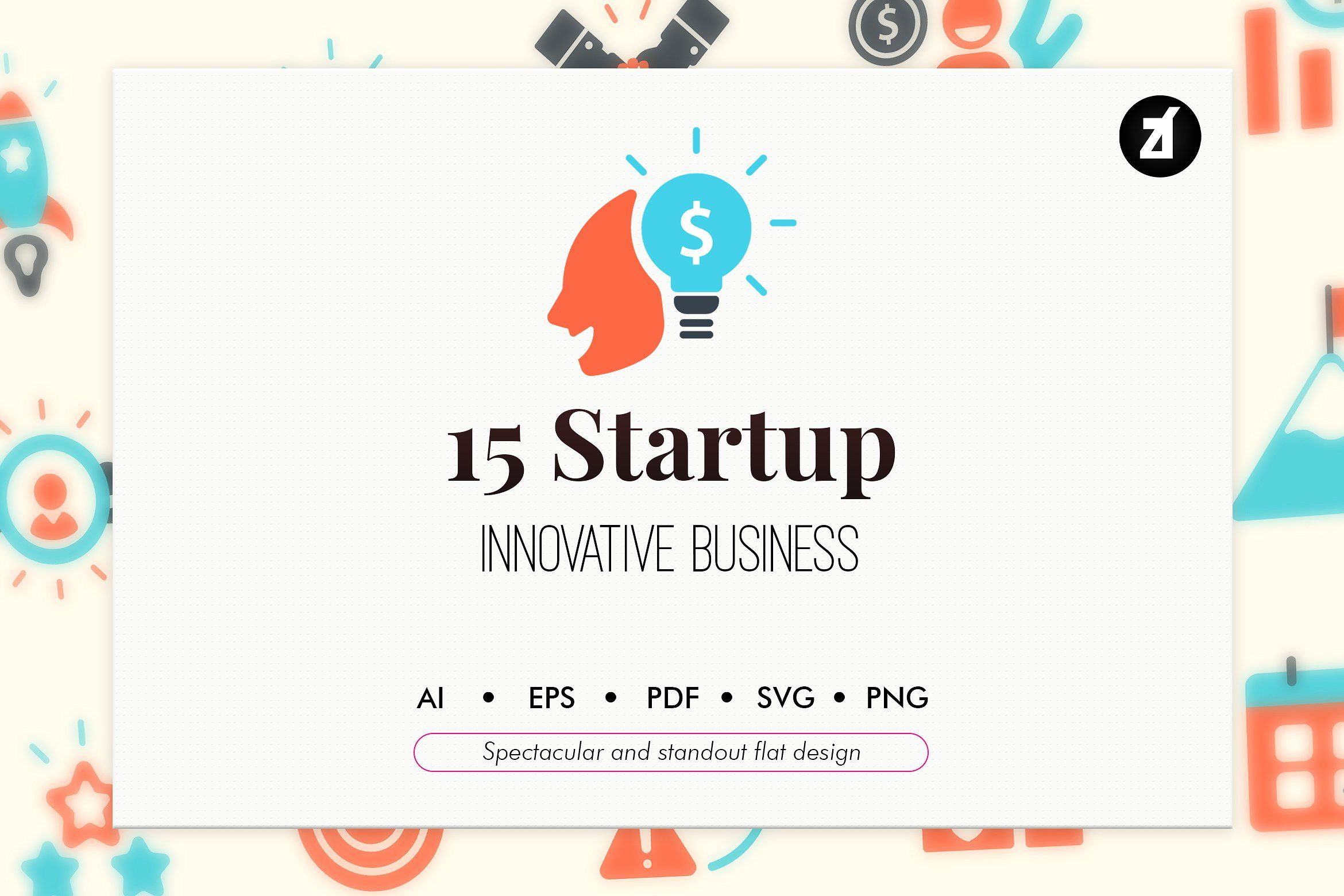 15 Startup Elements In Flat Design Start Up Webpage Design