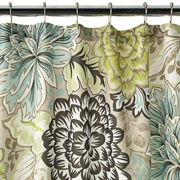 Home Classics Reiko Floral Fabric Shower Curtain Floral Shower