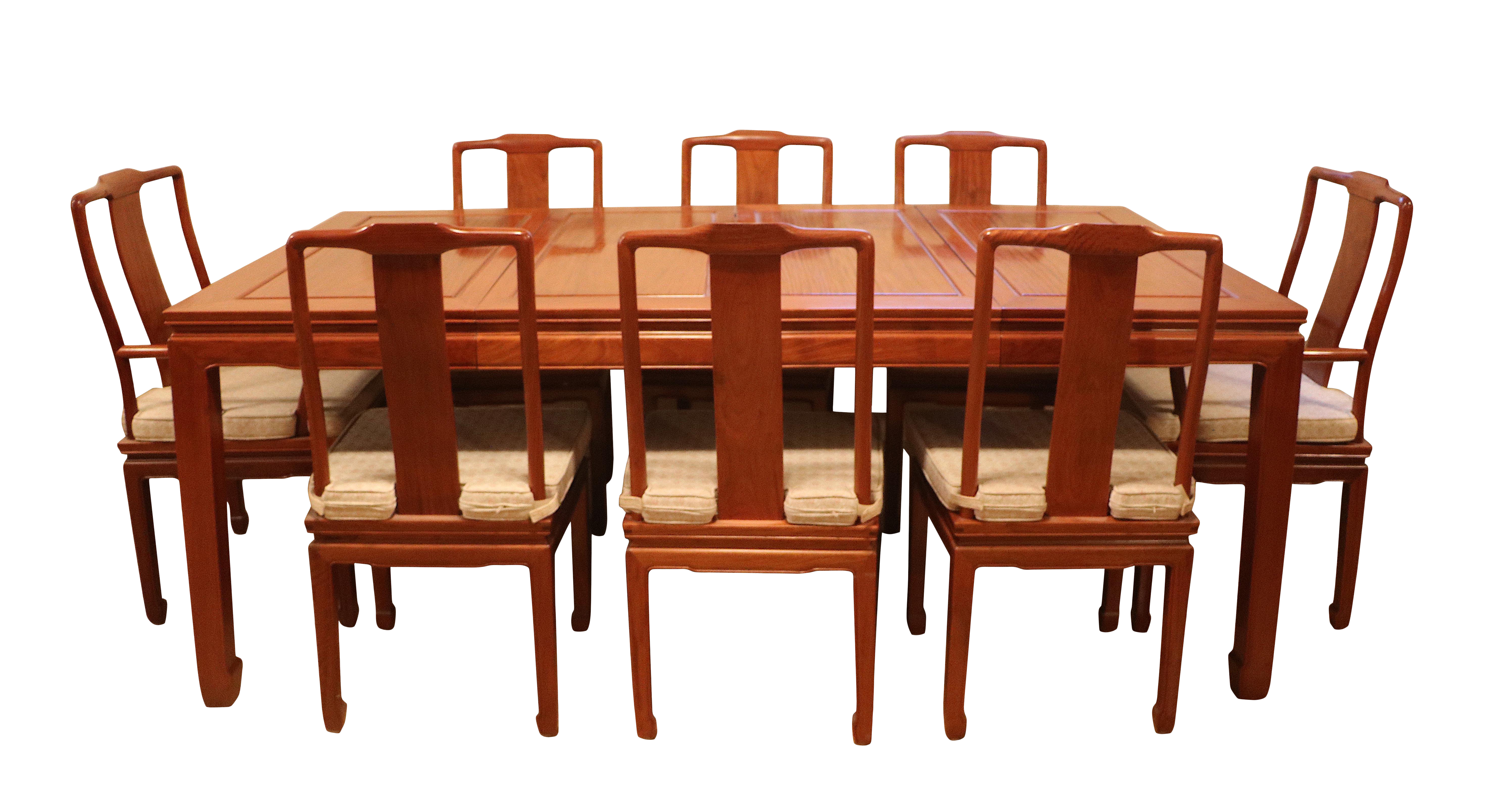Chinese Rosewood Ming Style Dining Set Table Eight Chairs On