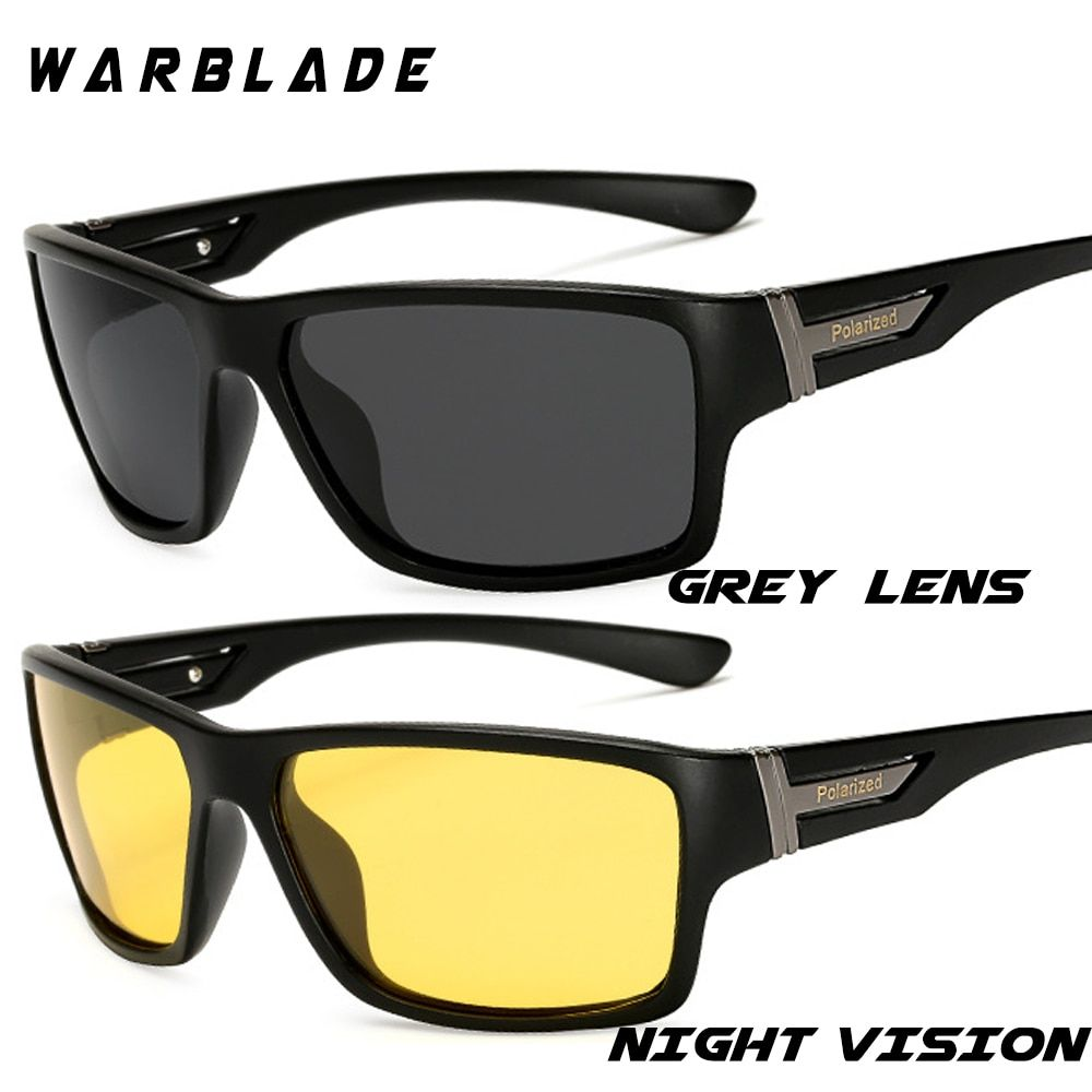fb5f88addf1 WarBLade Night Vision Sunglasses for Men UV400 Protection Night Driving  Glasses Male HD Polarized Yellow Lens Sun Glasses W1821 Review