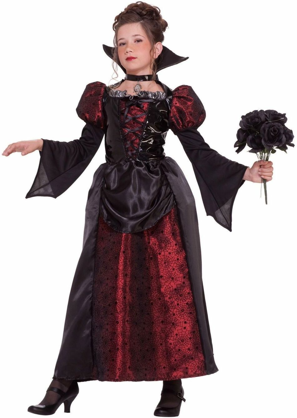 Lace Vampiress Girls Costume
