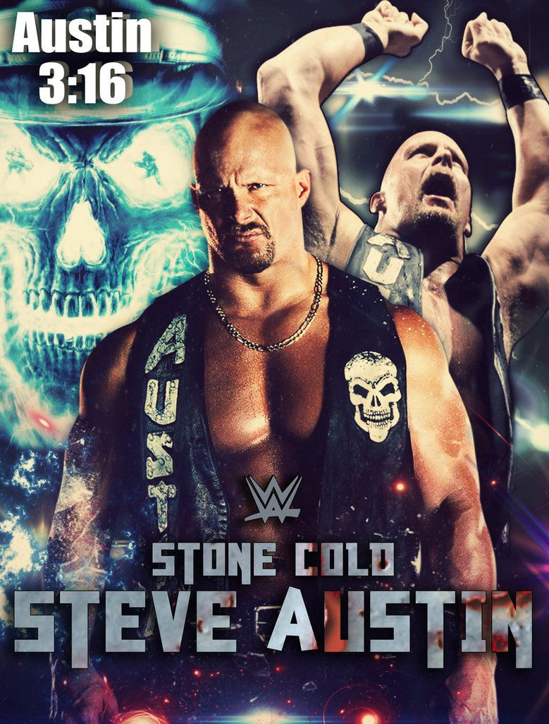 WWE Stone Cold Steve Austin Poster by ShahzamanAbbasi