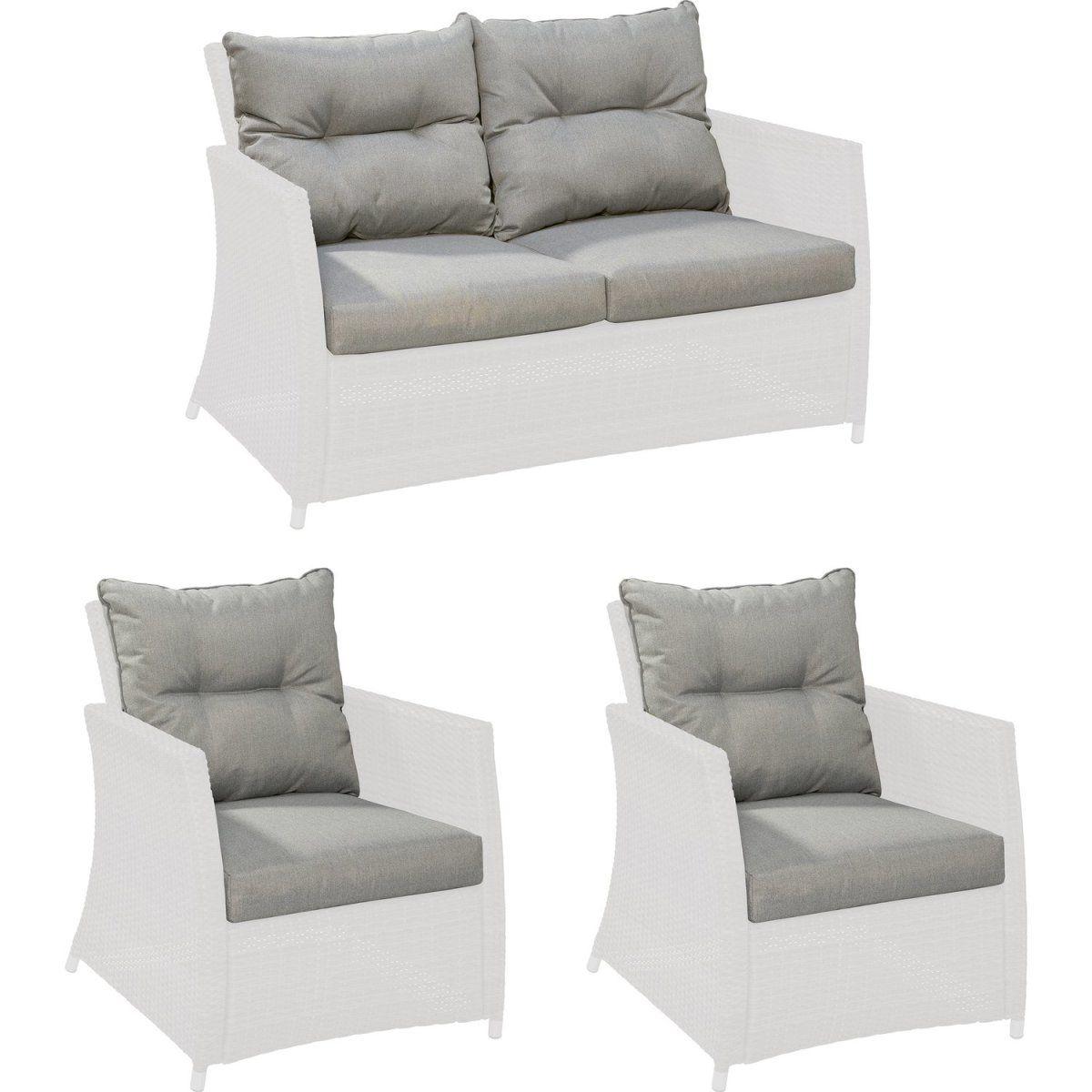 Ersatzkissen-Set für Gartenmöbelgruppe Melvern Grey Jetzt bestellen ...