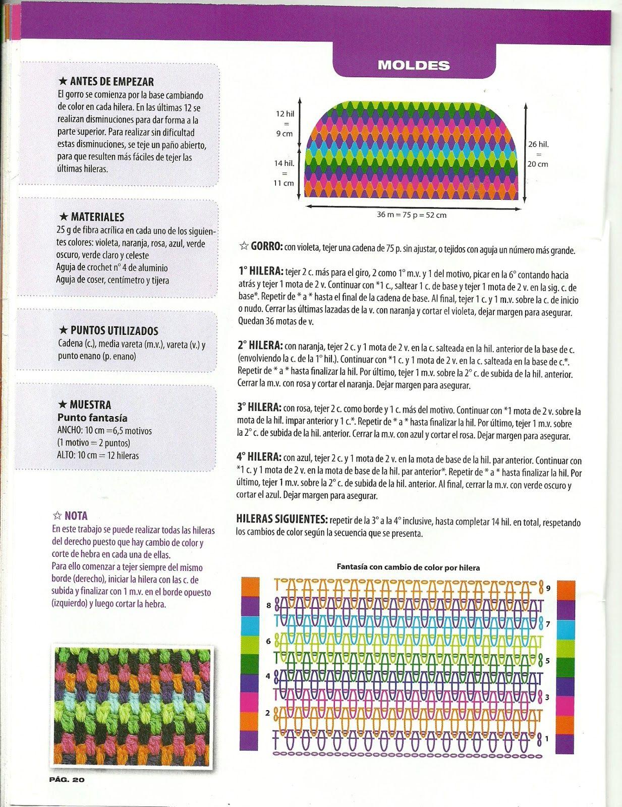 escanear0019.jpg (1233×1600)   crochet   Pinterest   Gorros, Modelo ...