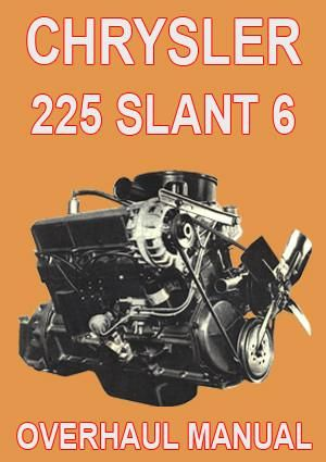 chrysler 225 slant 6 engine service overhaul manual engines rh pinterest com