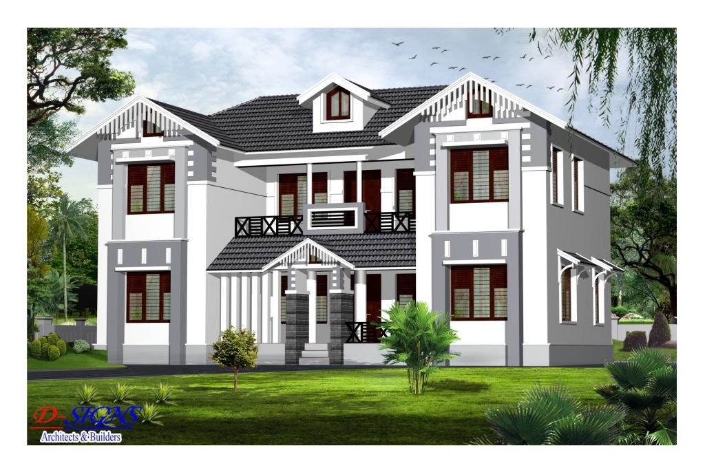 Trendy 4 bedroom kerala house design 3080 sq ft model for House design outside view