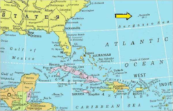 Bermuda Is Not In The Caribbean Bermuda Is Located In The - Bermuda islands map