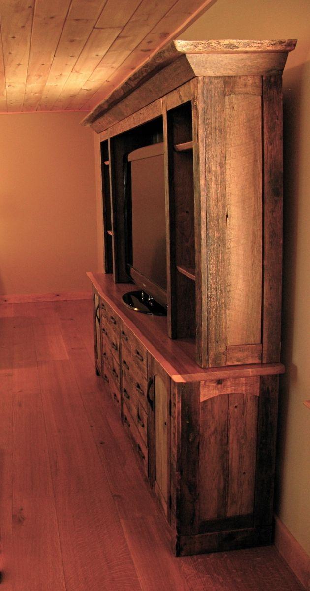 Custom made rustic entertainment center for the home pinterest rustic furniture diy - Diy rustic entertainment center ...