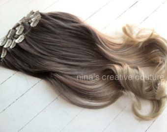 Ash Blonde Ombre Hair Ombre Clip In Hair Extensions By Studioshe