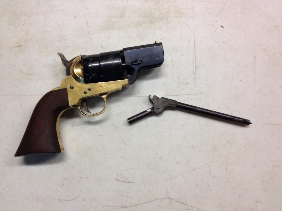 shortened brass frame 1851 colt 44 cal quick use custom loading