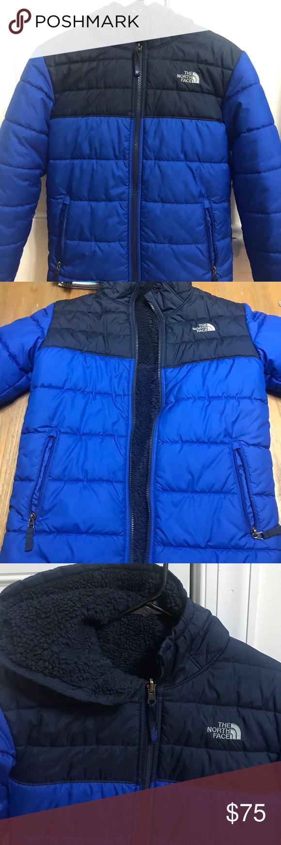Boys North Face Reversible Coat Reversible Coat The North Face North Face Jacket [ 1740 x 580 Pixel ]