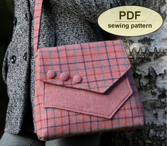 Nuevo: Patrón de costura para hacer el bolso de Marratxi - patrón PDF descarga instantánea