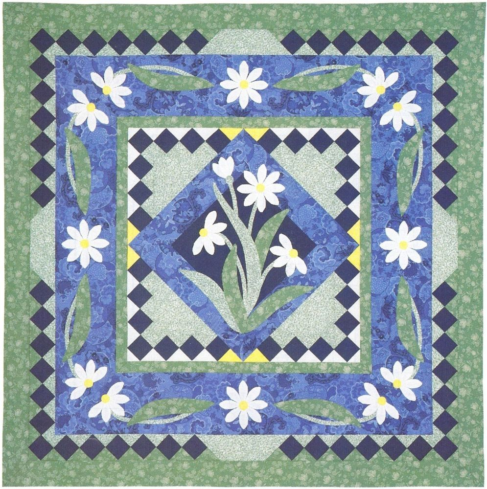 Quilt PATTERN ~ Daisy Chain ~ Applique Quilting Instructions from ... : daisy chain quilt pattern - Adamdwight.com