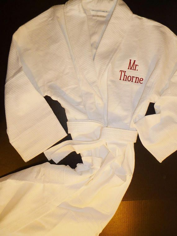 Personalized Robe All Cotton Robe Monogram Robe Embroidered  3c216b675