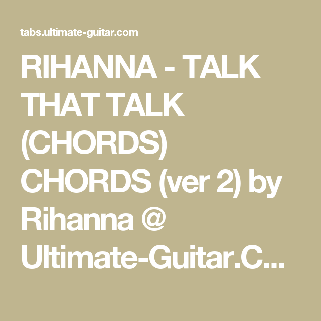 Stay Rihanna Chords Golfclub