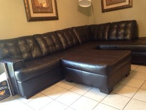 new leather sectional in houston tx sells for 800 offer up