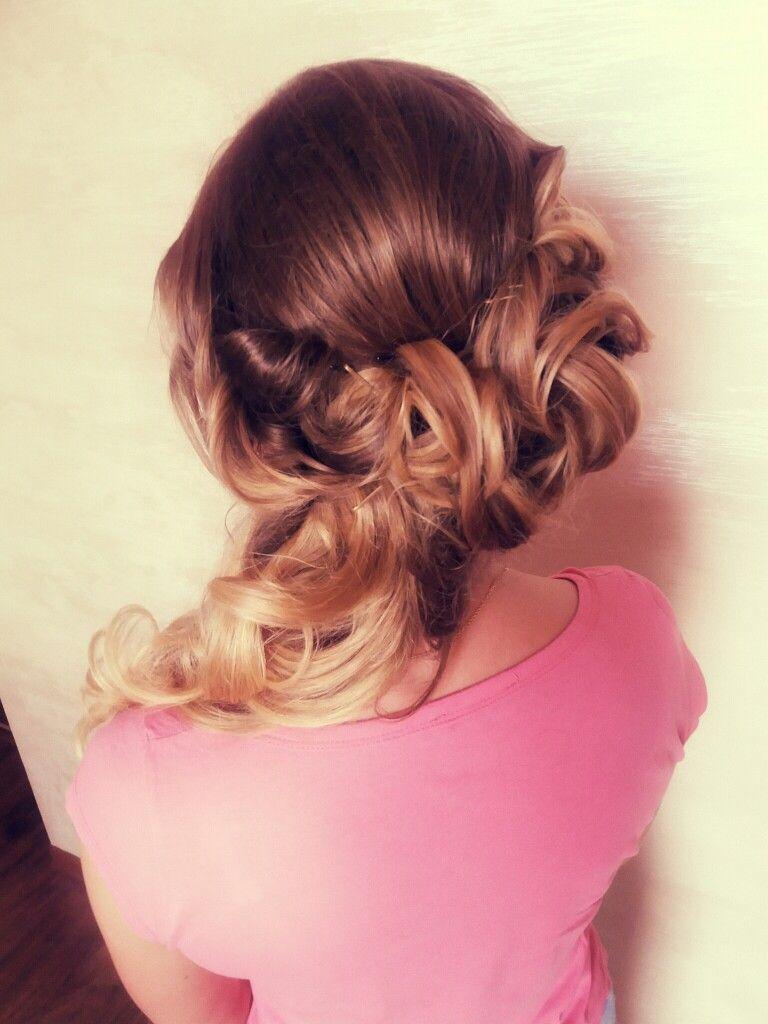 bridal #wedding #updo #updos #hair #medium #long #work #beautifull ...