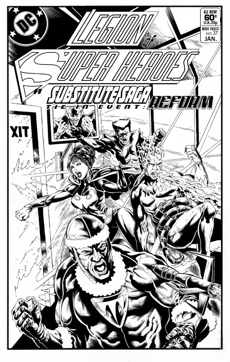 Substitute Legion Homage To Uncanny X Men Issue 110 Subs Saga Tie In Event Reform Comic Art In 2021 Saga Comic Superhero Coloring Pages Legion Of Superheroes