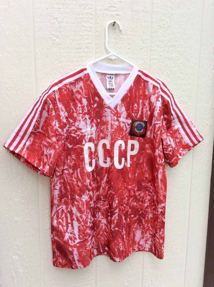 Vintage Adidas CCCP Soccer jersey circa 1988 1991 Used size