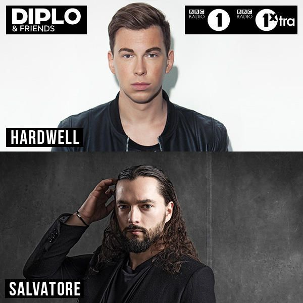 Hardwell and Salvatore on Diplo & Friends tonight 8 PM PST