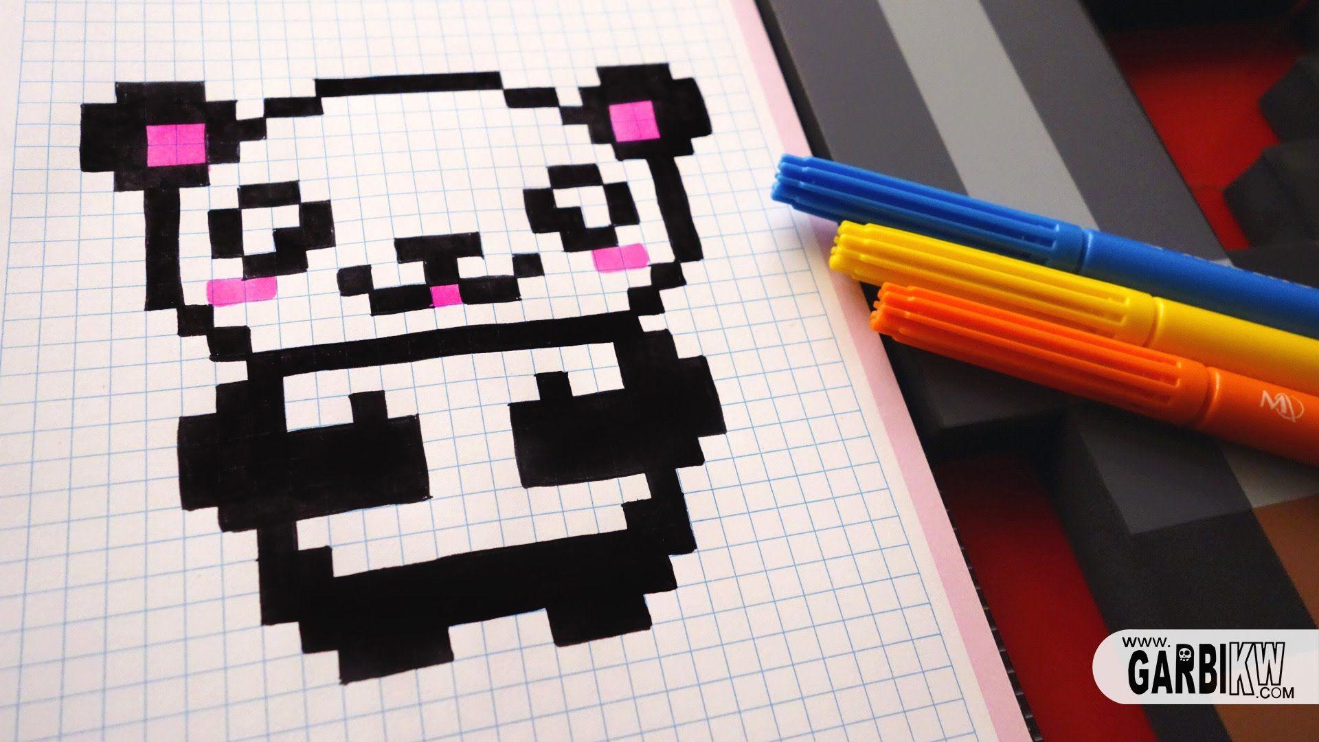 Handmade Pixel Art How To Draw Kawaii Panda Pixelart Disney