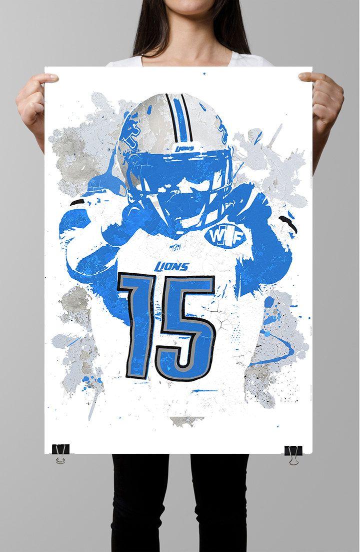 c78b4575 Golden Tate III Detroit Lions NFL Poster by GoFigureArtStudio ...