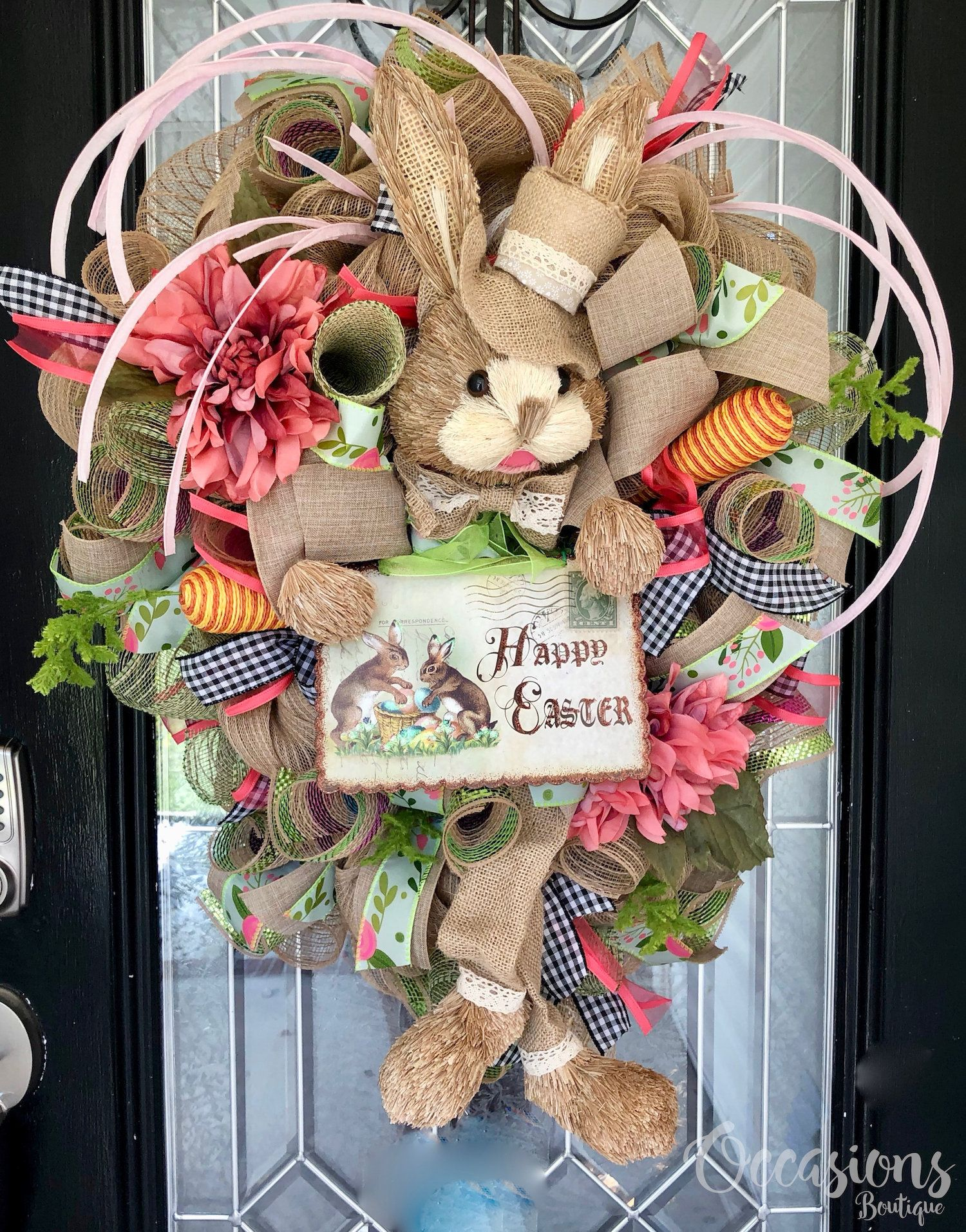 TRM Easter Bunny Cottontail Door Wall Wreath