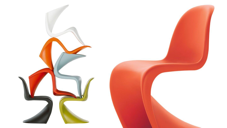 Panton Chair 1960 Zur Serie Mit Vitra 1970 Designer Verner Panton Grundidee Durchgefarbtem Strapazierfahigem Kunststoff Mit Chaise Panton Chaise Plastique