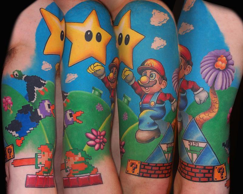 Awesome Mario Tattoo. Video Game Tattoo
