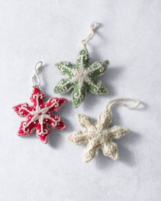 Embroidered Snowflake Ornament
