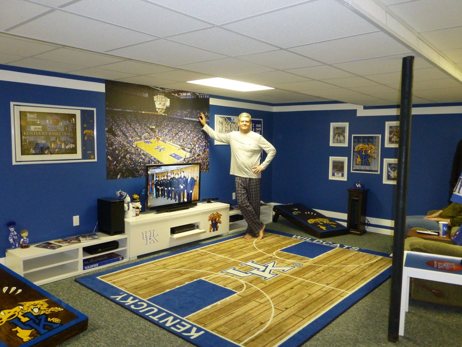 Uk Basketball: The Lazy Girl's Blog #University Of Kentucky #Man Caves