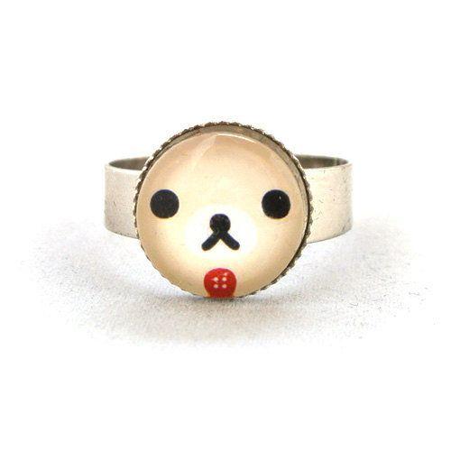 ON SALE Ring Sweet Japanese Cartoon Cute Rilakkuma Korilakkuma Bear Sweetie Jewelry Unique Gifts Kawaii