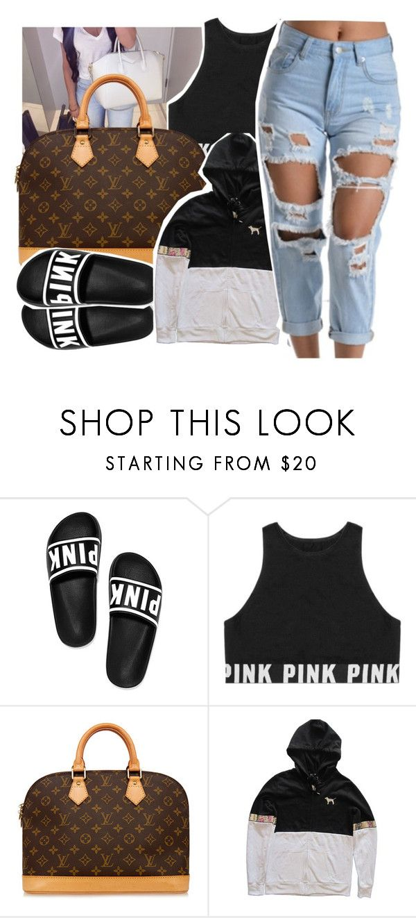 """😍or 😷."" by pinksemia ❤ liked on Polyvore featuring Victoria's Secret and Louis Vuitton"