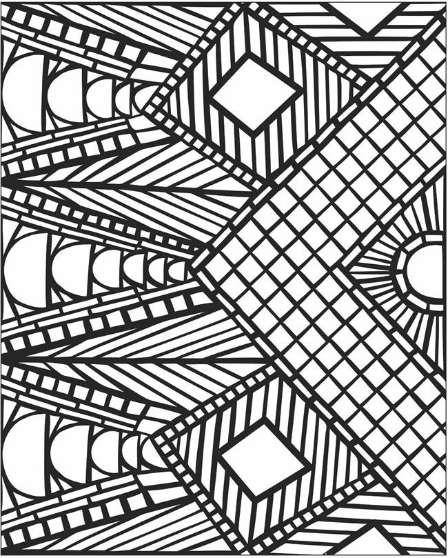 Mosaic Patterns Coloring Pages 11387 Geometric Coloring Pages