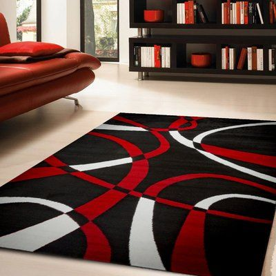 ebern designs colonial dark red area rug products white rug rh pinterest com