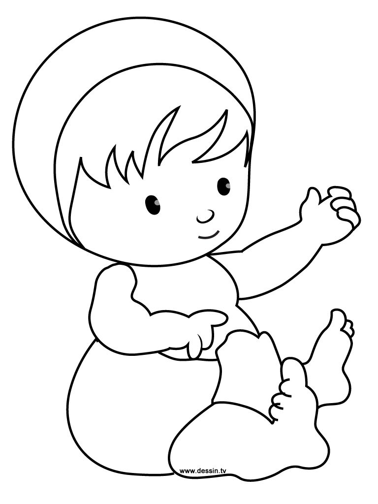 simple color baby coloring pages to print for kids | baby ...