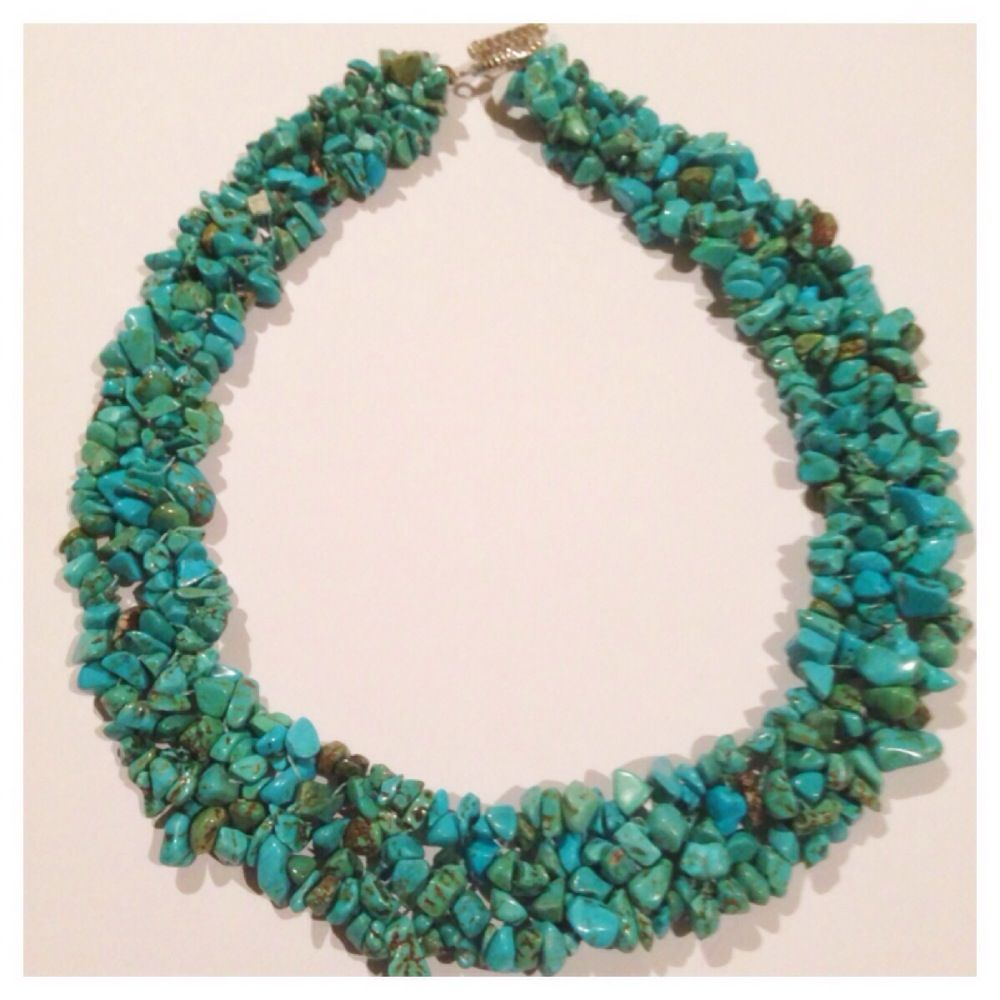 I'm selling Turquoise chip necklace - A$35.00 #onselz