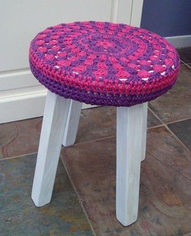 crochet cover stool