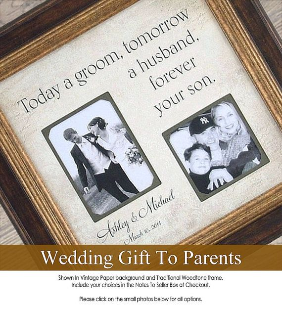 Mother of the Groom Gift, Personalized Wedding Photo Frame, Wedding ...