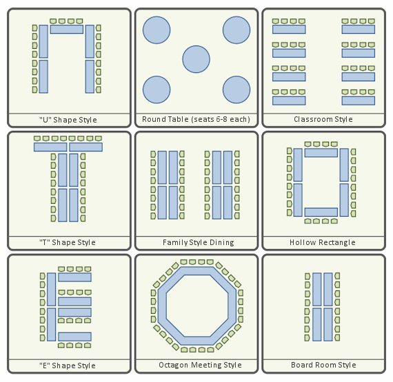 room layout for event