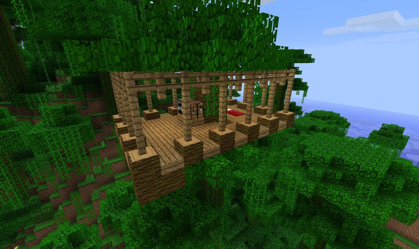 домик на дереве в майнкрафт для начинающих платье идеально